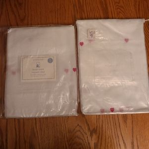 Pottery Barn Kids Heart sheers, SET OF 2!